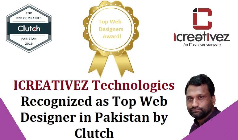 ICREATIVEZ awarded as Top Web Designer in Pakistan